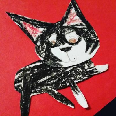 """NVL mask on """"Stitch"""" - by Marissa, age 6"""