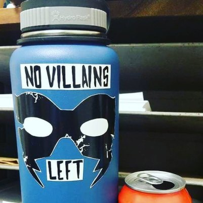 Custom NVL sticker job on a Hydroflask by Panda